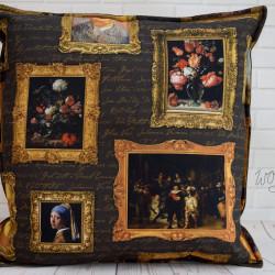 Handgemaakte kussen schilder gouden eeuw 3 50x50 cm