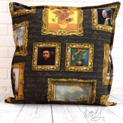 Handgemaakte kussen schilder gouden eeuw 1 40x40 cm