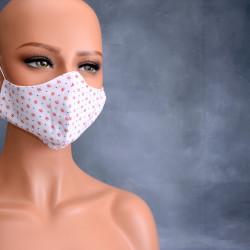Medisch gezichtsmasker rood wit blauw