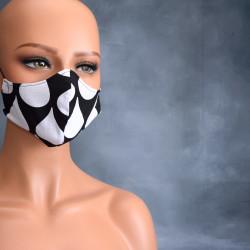 Medisch gezichtsmasker zwart met witte druppels