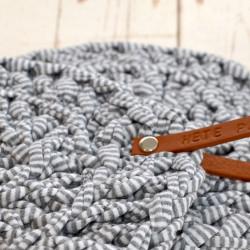 Pannenonderzetter grijs gemêleerd 21 cm set van 2