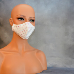 Mondkapje of medisch gezichtsmasker rode stippen