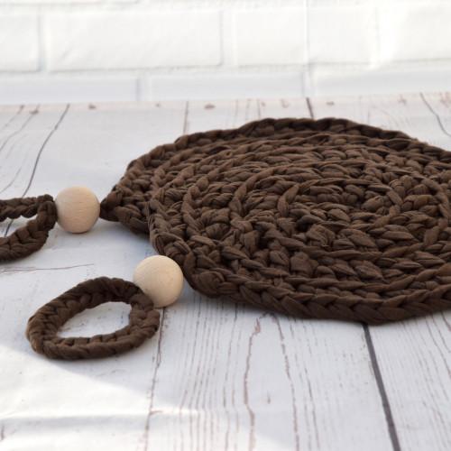 Pannenonderzetter bruin 19 cm set