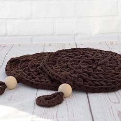 Pannenonderzetter bruin 20 cm set