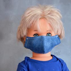 Mondkapje of medisch gezichtsmasker voor kinderen jeans