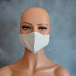 Mondkapje of gezichtsmasker licht bruin geruit