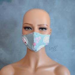 Mondkapje of medisch gezichtsmasker grijs nostalgisch