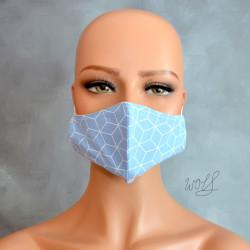 Mondkapje of gezichtsmasker blauw grafisch