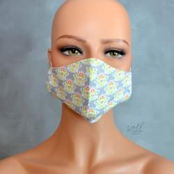 Mondkapje of gezichtsmasker grijs met groen