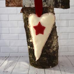 Harten Hangers Kerst met rode ster