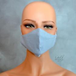 Mondkapje of gezichtsmasker licht blauw uni