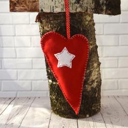 Harten Hangers Kerst met witte ster