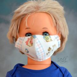 Mondkapje of gezichtsmasker voor kinderen beatrix potter
