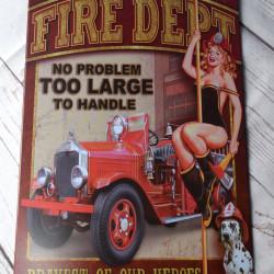 Brandweer Reclamebord ijzer metaal
