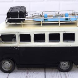 Metalen Volkswagenbus Zwart Wit