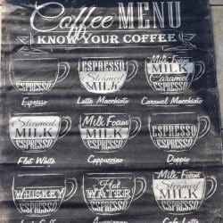"""Wandkaart Perkament """"Koffie"""""""