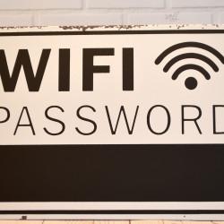 Bordje WiFi met password