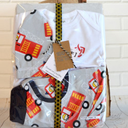 Kraampakket brandweer voor meisje maat 74 licht grijs