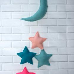 Baby mobiel maan met sterren