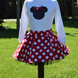 Handmade Minnie mouse outfit