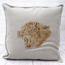 Handgemaakte kussen met tijgerprint